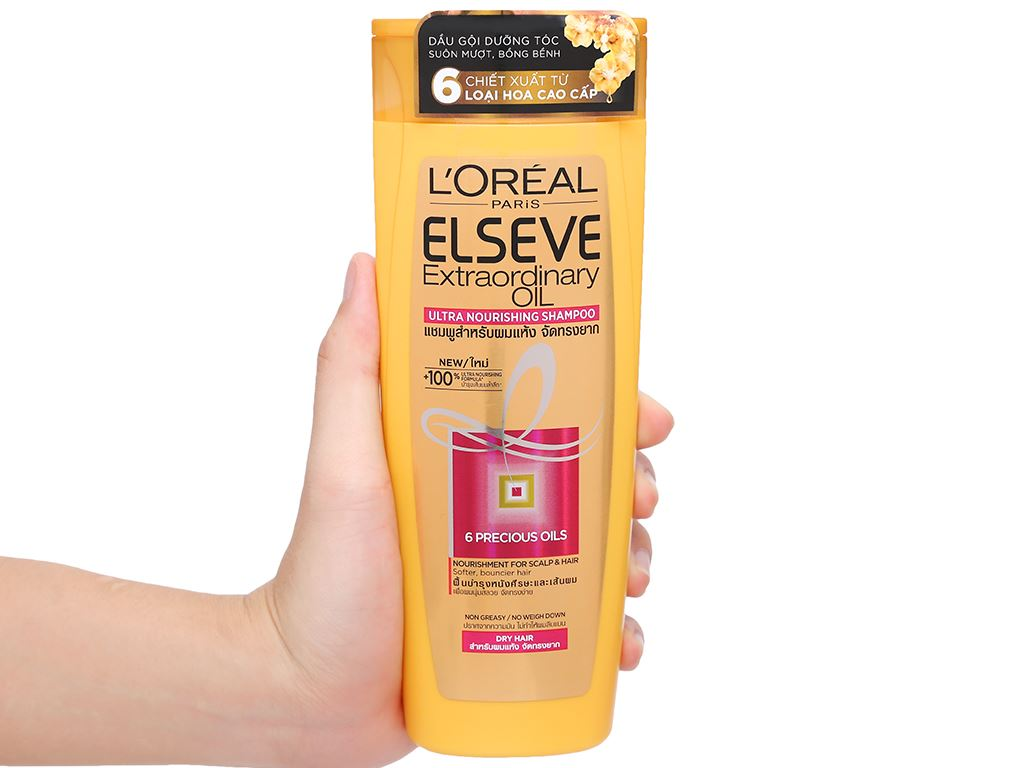 Dầu gội dưỡng tóc L'Oréal Elseve tinh dầu hoa 330ml 4