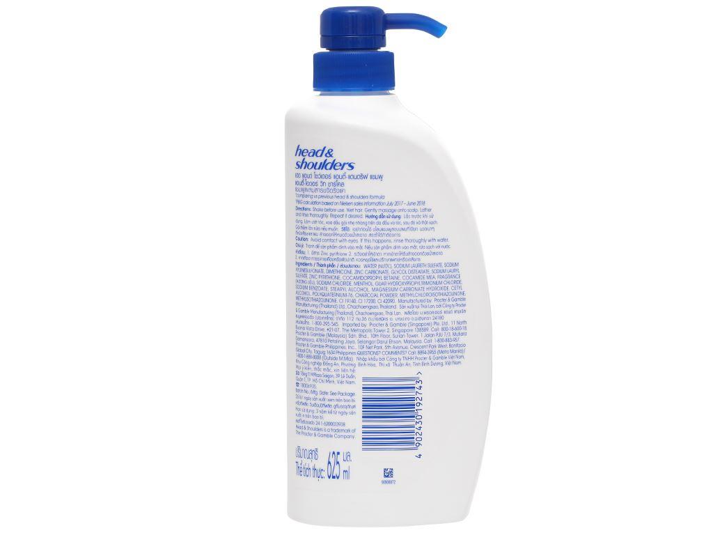 Dầu gội sạch gàu Head & Shoulders than sạch sâu và khử mùi 625ml 2