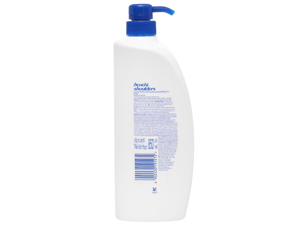 Dầu gội sạch gàu Head & Shoulders than sạch sâu và khử mùi 850ml 2