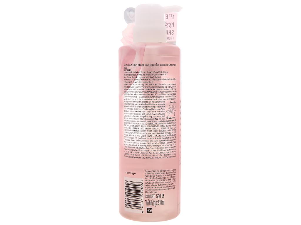 Dầu gội Pantene chiết xuất nước hoa hồng 530ml 2