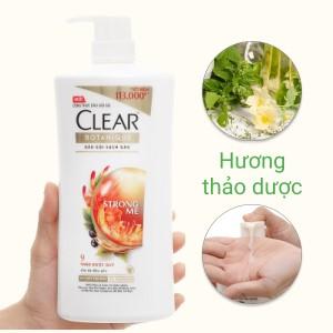 Dầu gội đầu Clear Botanique 9 thảo dược quý cho da đầu yếu sạch gàu nhờn ngứa chai 900g