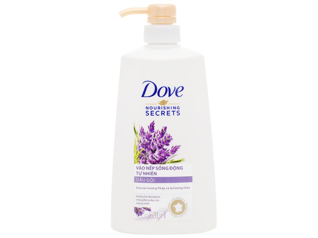Dầu gội Dove vào nếp sống động tự nhiên 631ml 1