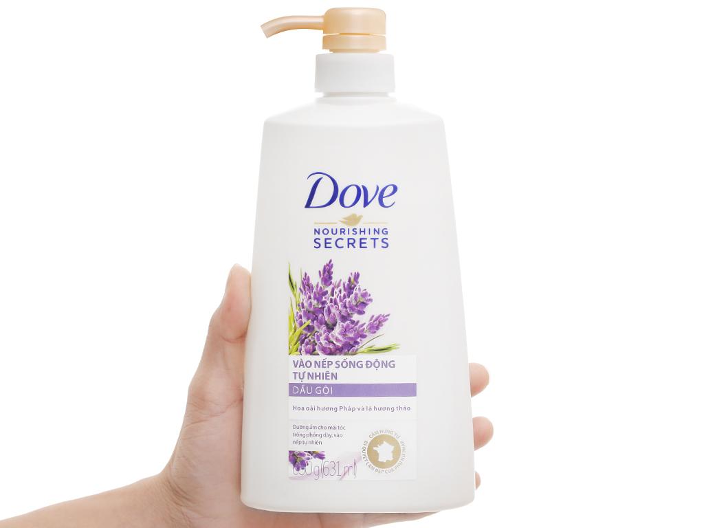 Mua Dầu gội Dove vào nếp sống động tự nhiên hương hoa oải hương pháp và lá  hương thảo 631ml | BachhoaXANH.com