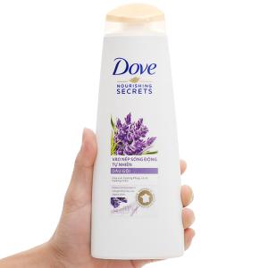 Dầu gội Dove vào nếp sống động tự nhiên hương hoa oải hương pháp và lá hương thảo 330ml