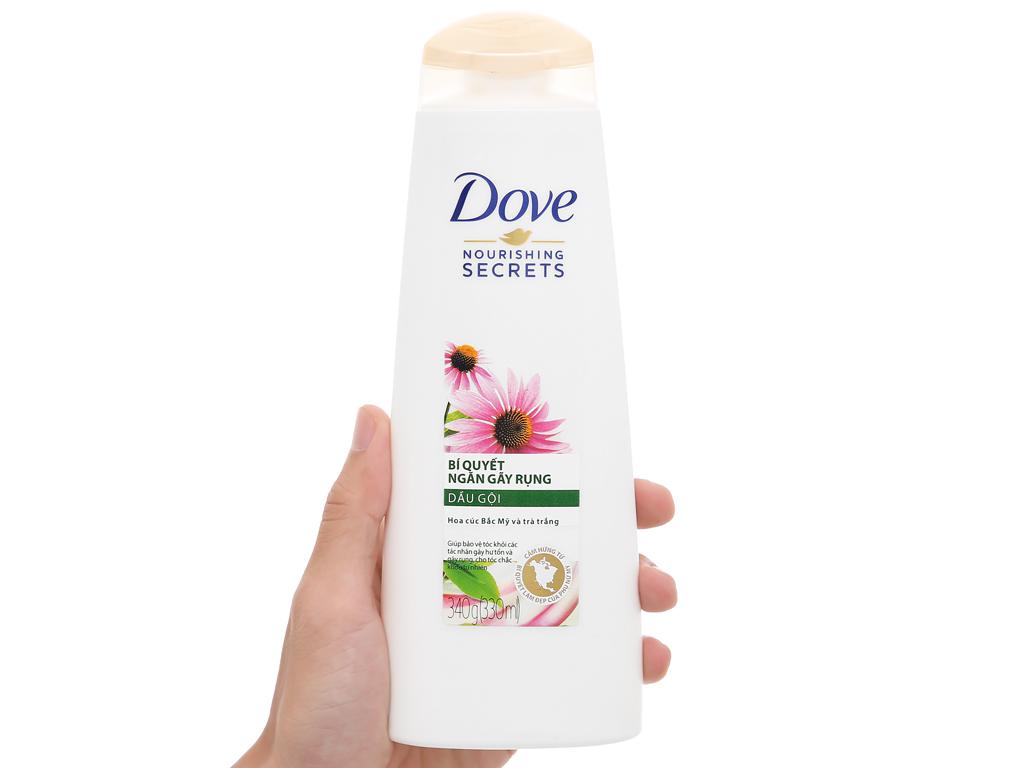 Dầu gội Dove ngăn gãy rụng hoa cúc bắc mỹ và trà trắng 330ml 3