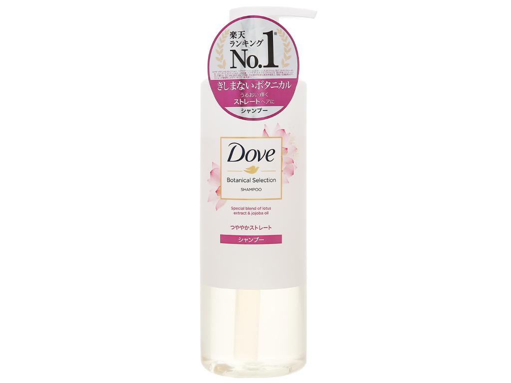 Dầu gội Dove bóng mượt chiết xuất hoa sen và dầu jojoba 500g 1