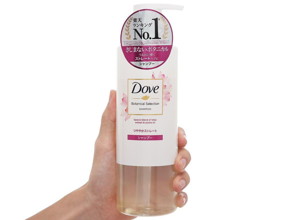 Dầu gội Dove bóng mượt chiết xuất hoa sen và dầu jojoba 500g 5