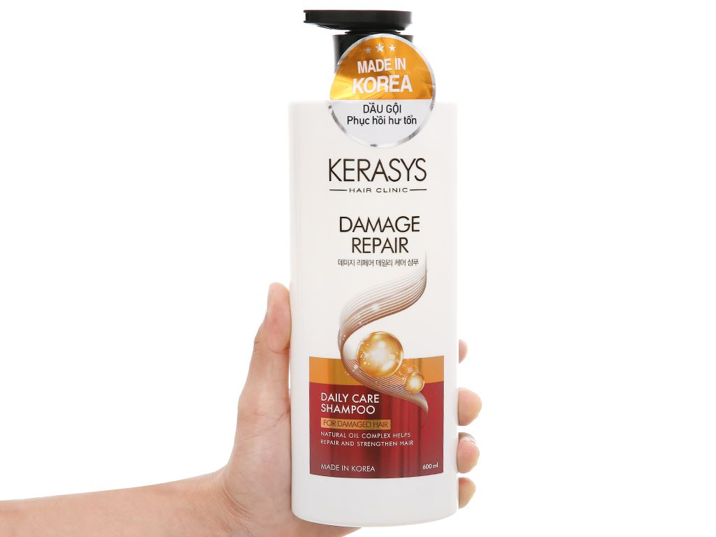 Dầu gội Kerasys phục hồi hư tổn 600ml 4
