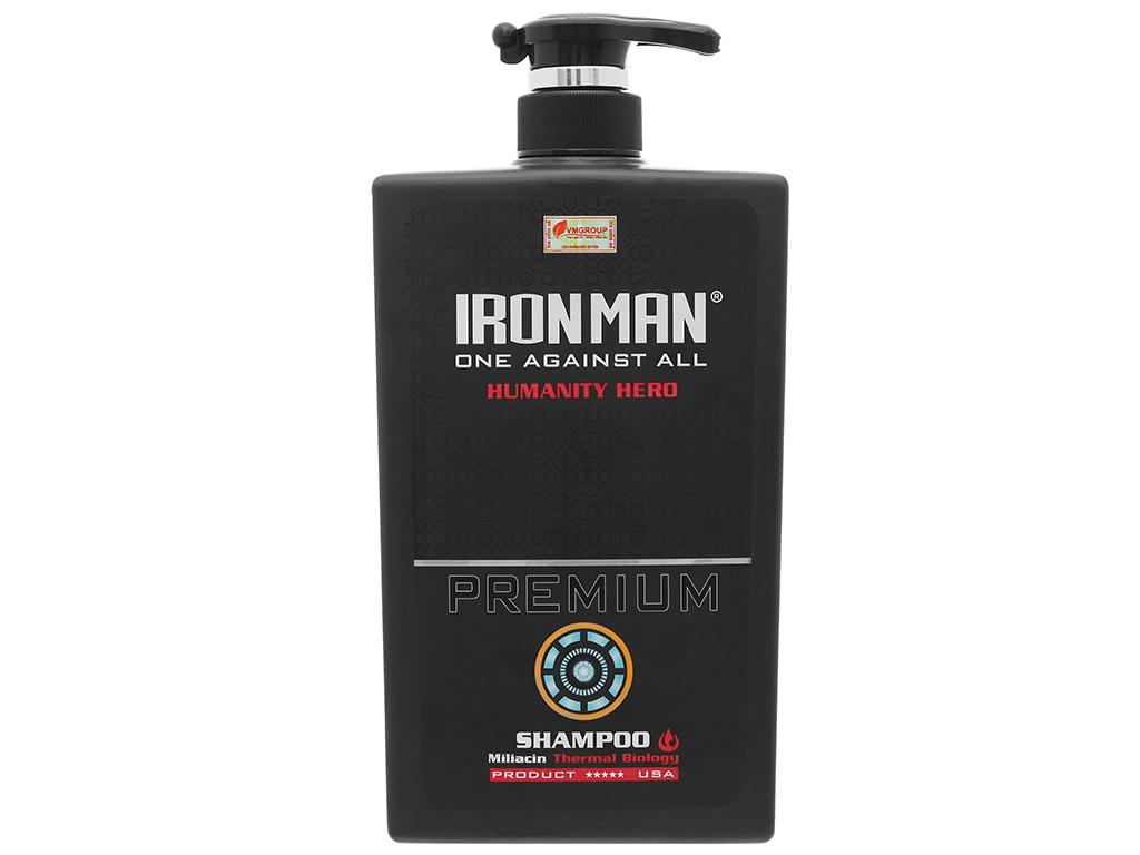 Dầu gội nhiệt Ironman Premium Humanity Hero 650g 1