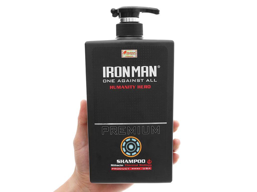 Dầu gội nhiệt Ironman Premium Humanity Hero 650g 4