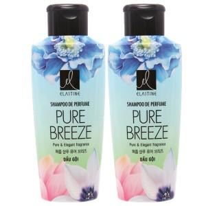 Combo 2 chai Dầu gội nước hoa Elastine Pure Breeze óng mượt chắc khoẻ 170ml