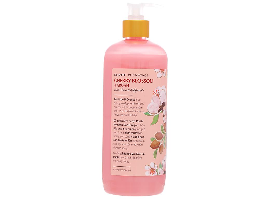 Dầu gội mềm mượt Purité hoa anh đào và dầu Argan 650ml 4