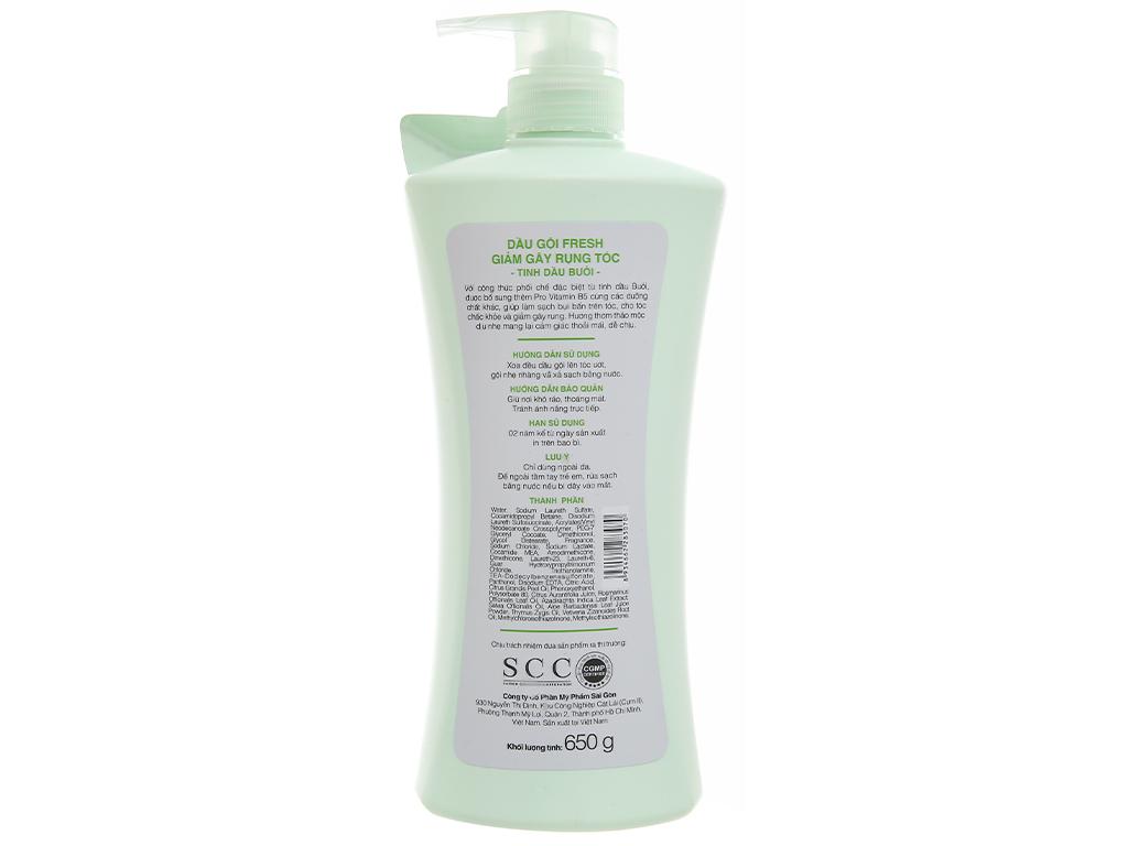 Dầu gội Fresh tinh dầu bưởi giảm rụng tóc 650g 2