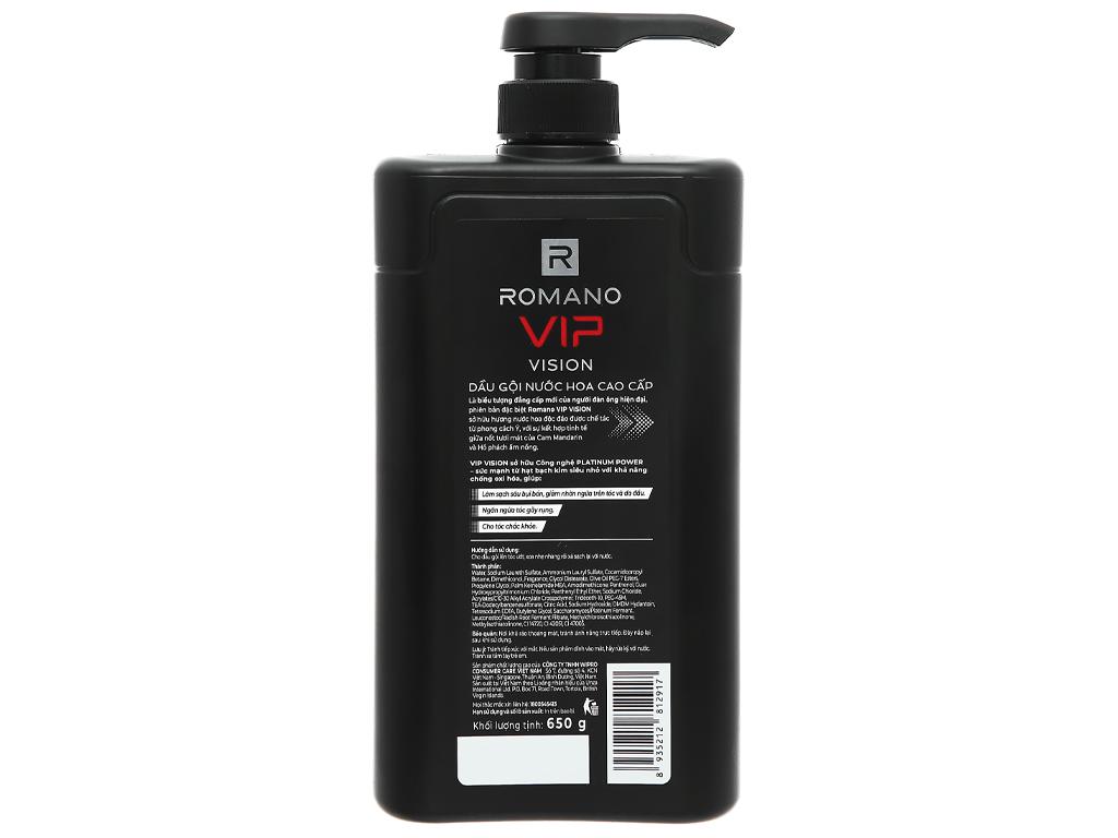 Dầu gội Romano VIP VISION 650g 650g 2