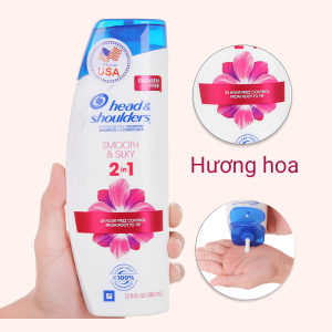 Dầu gội và xả 2in1 Head & Shoulders Smooth & Silky 380ml