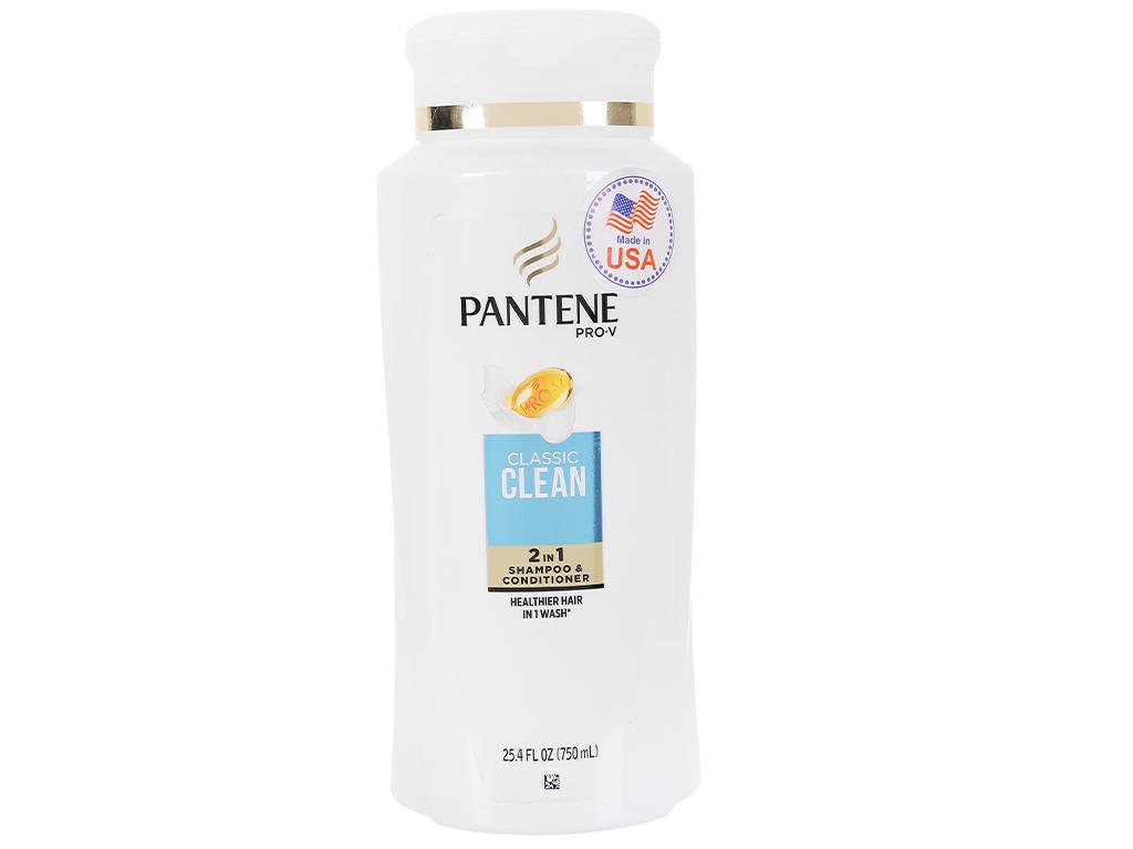 Dầu gội và xả 2in1 Pantene Pro-V Classic Clean 750ml 1