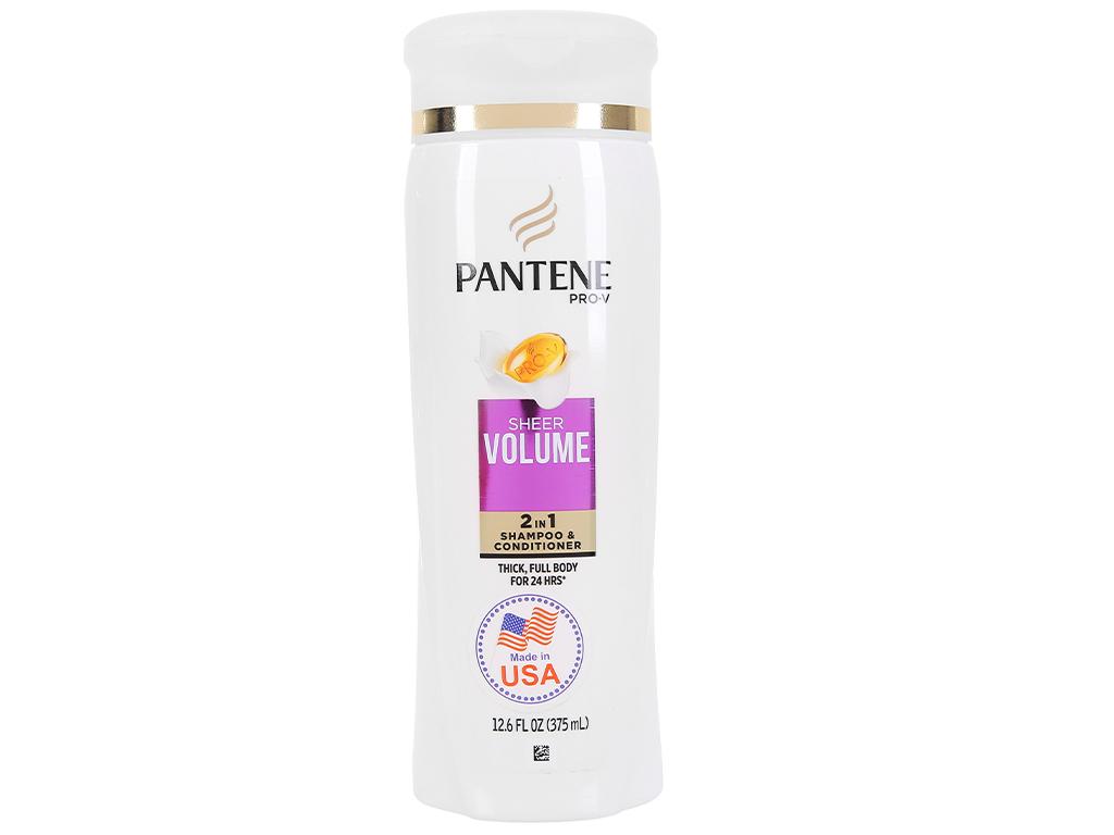 Dầu gội và xả 2in1 Pantene Pro-V Sheer Volume 375ml 1