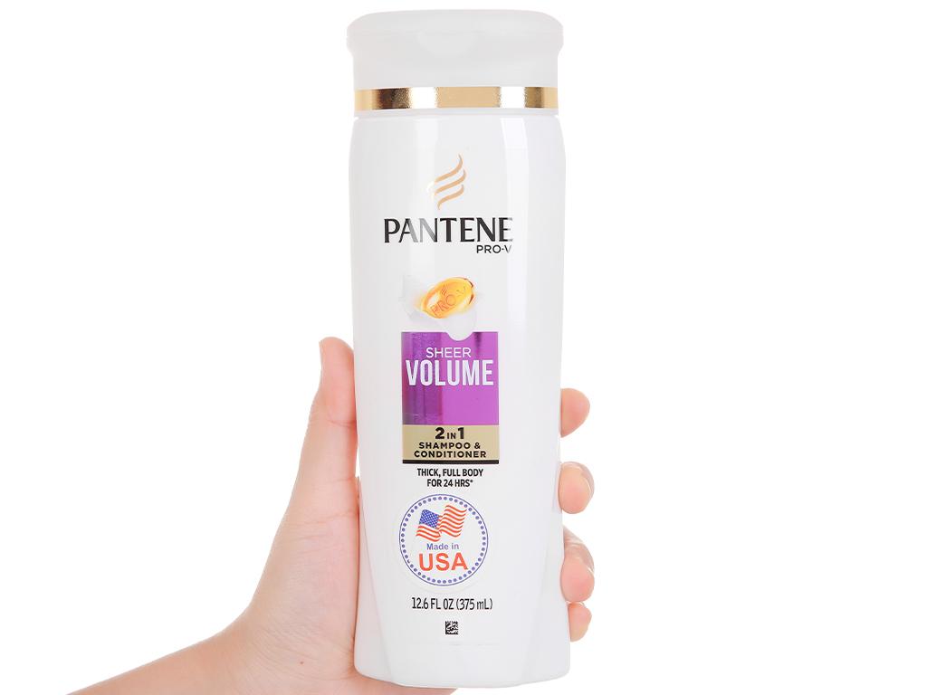 Dầu gội và xả 2in1 Pantene Pro-V Sheer Volume 375ml 5