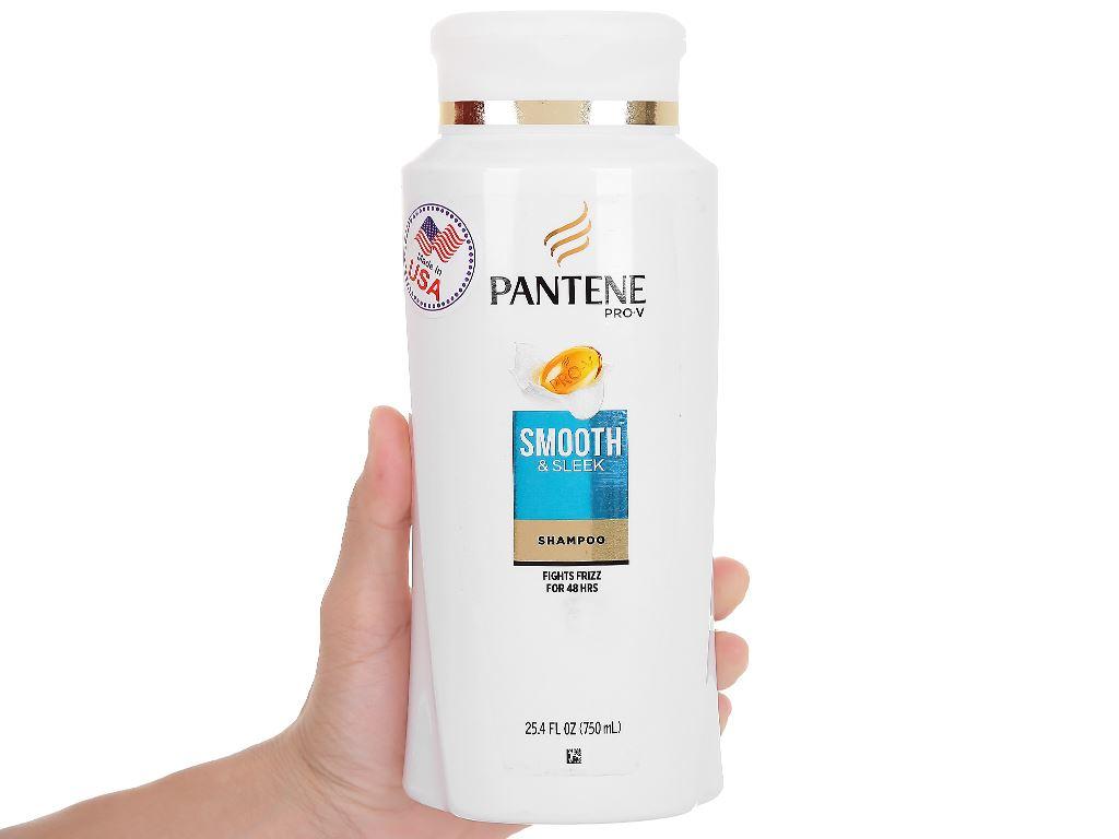 Dầu gội Pantene Pro-V Smooth & Sleek mềm mượt 750ml 4