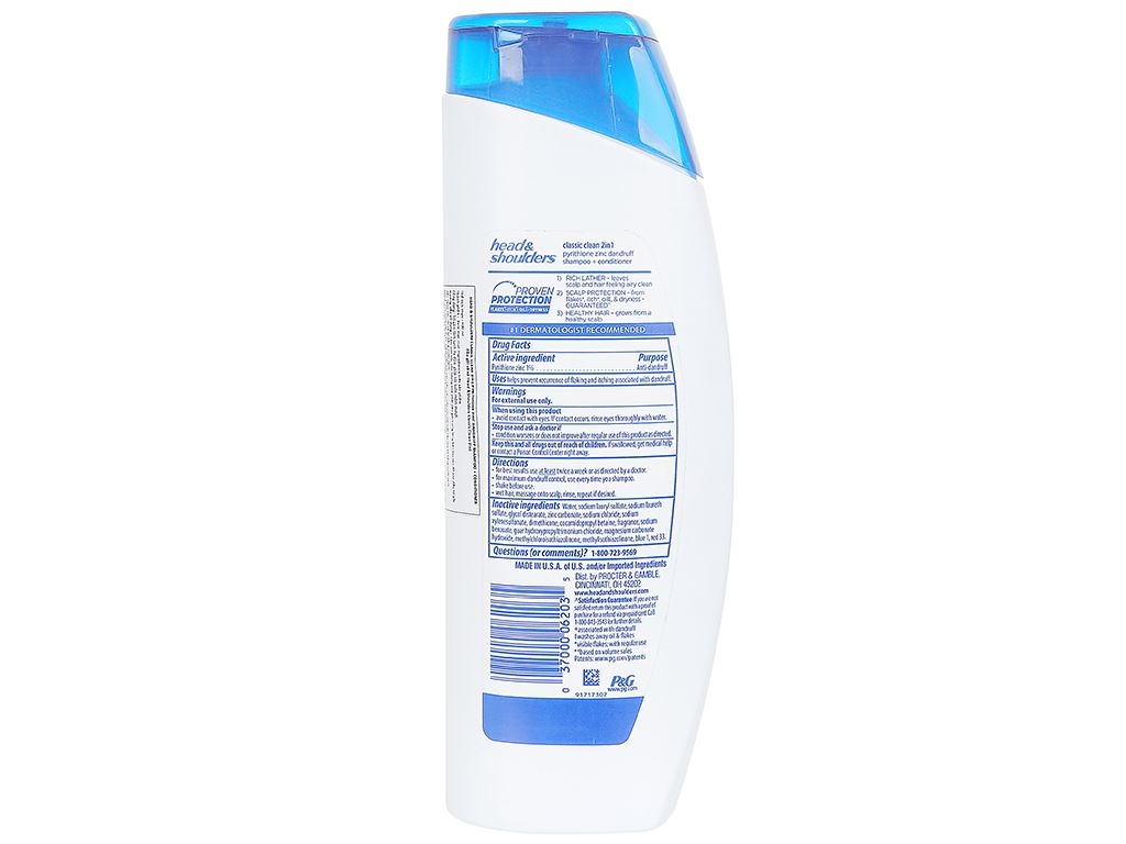 Dầu gội và xả 2in1 Head & Shoulders Classic Clean 400ml 2
