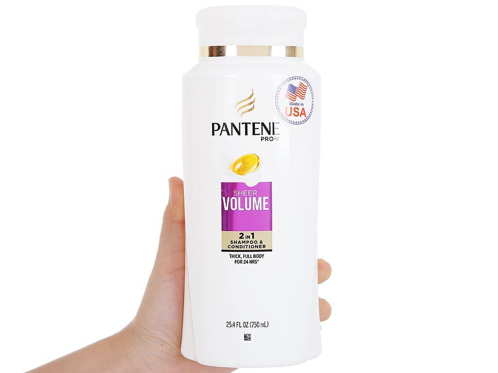 Dầu gội và xả 2in1 Pantene Pro-V Sheer Volume 750ml 5