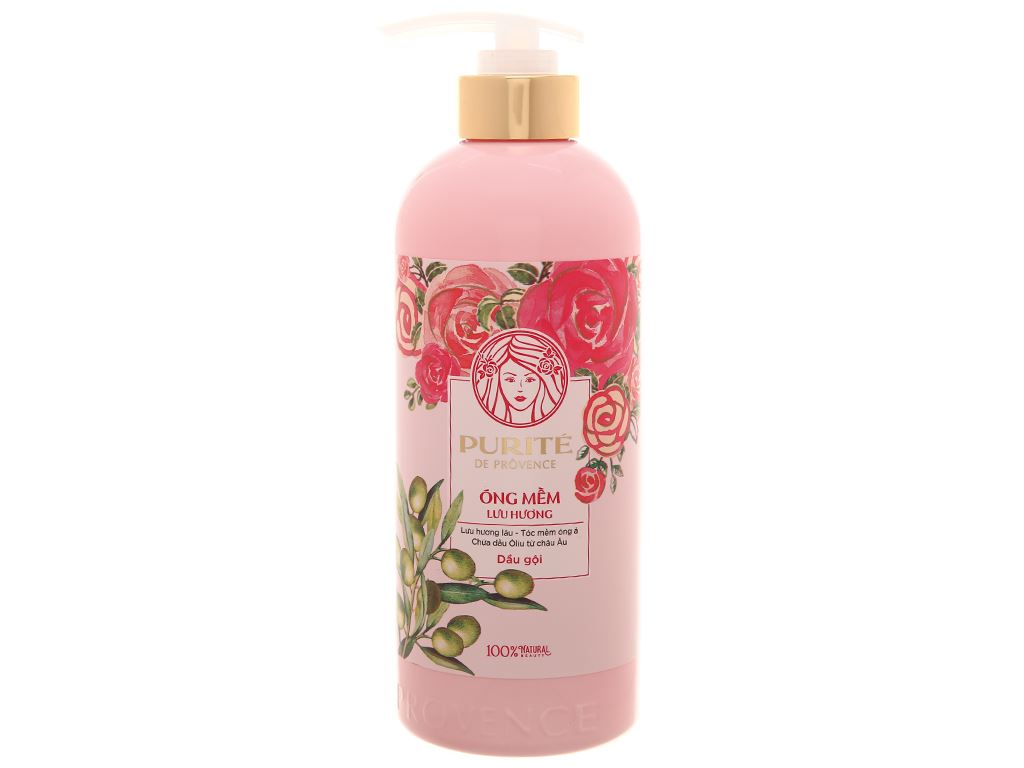Dầu gội mềm mượt Purité hoa hồng & Olive 600ml 1