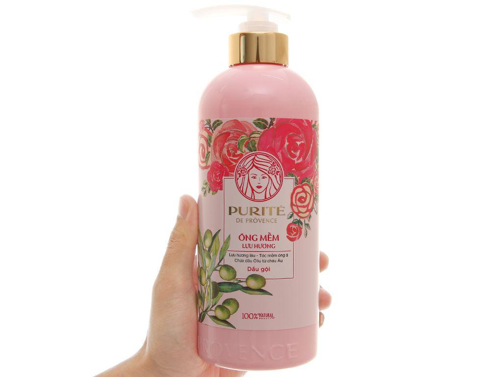 Dầu gội mềm mượt Purité hoa hồng & Olive 600ml 3