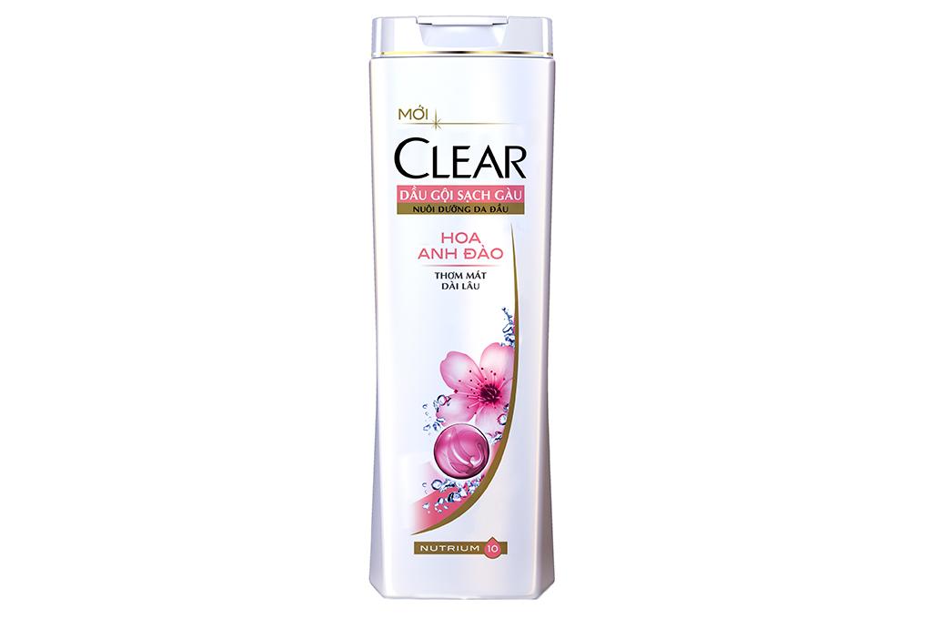 Dầu gội sạch gàu Clear hương hoa Anh Đào 180g