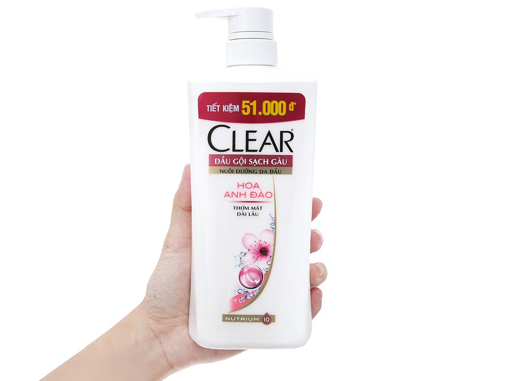 Dầu gội Clear sạch gàu hoa anh đào 650g 4