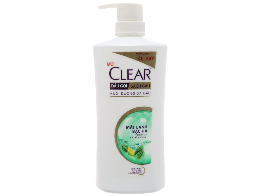 Dầu gội sạch gàu Clear mát lạnh bạc hà 631ml 2