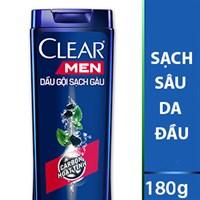 Dầu gội sạch gàu Clear Men sạch sâu da đầu 180g