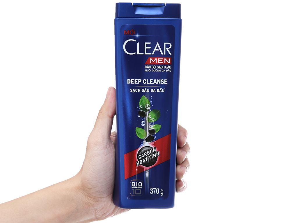 Dầu gội sạch gàu Clear Men Deep Cleanse Carbon hoạt tính 359ml 4