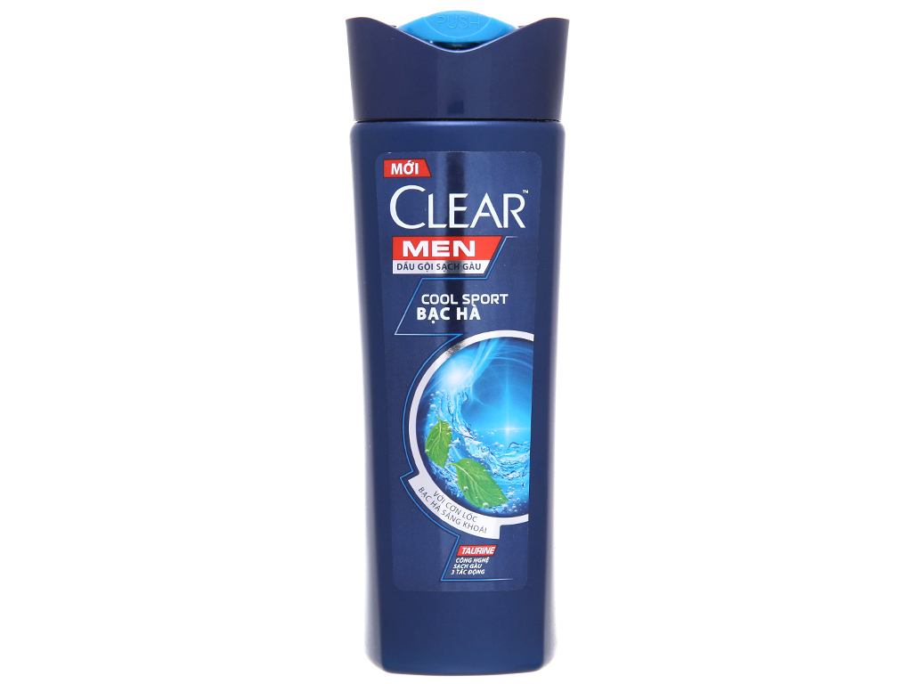 Dầu gội Clear Men Cool Sport sạch gàu bạc hà mát lạnh 180g 2