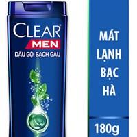 Dầu gội làm sạch gàu, nuôi dưỡng da đầu Clear Men mát lạnh bạc hà chai 180g