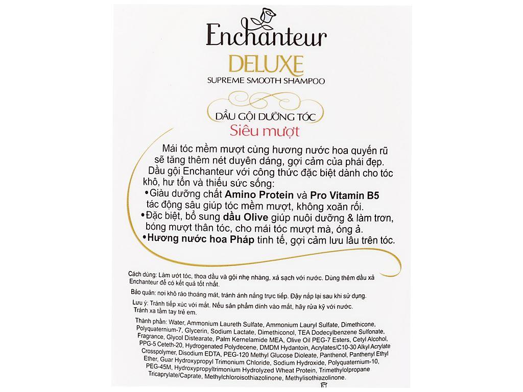 Dầu gội dưỡng tóc siêu mượt Enchanteur Magic 650g 5