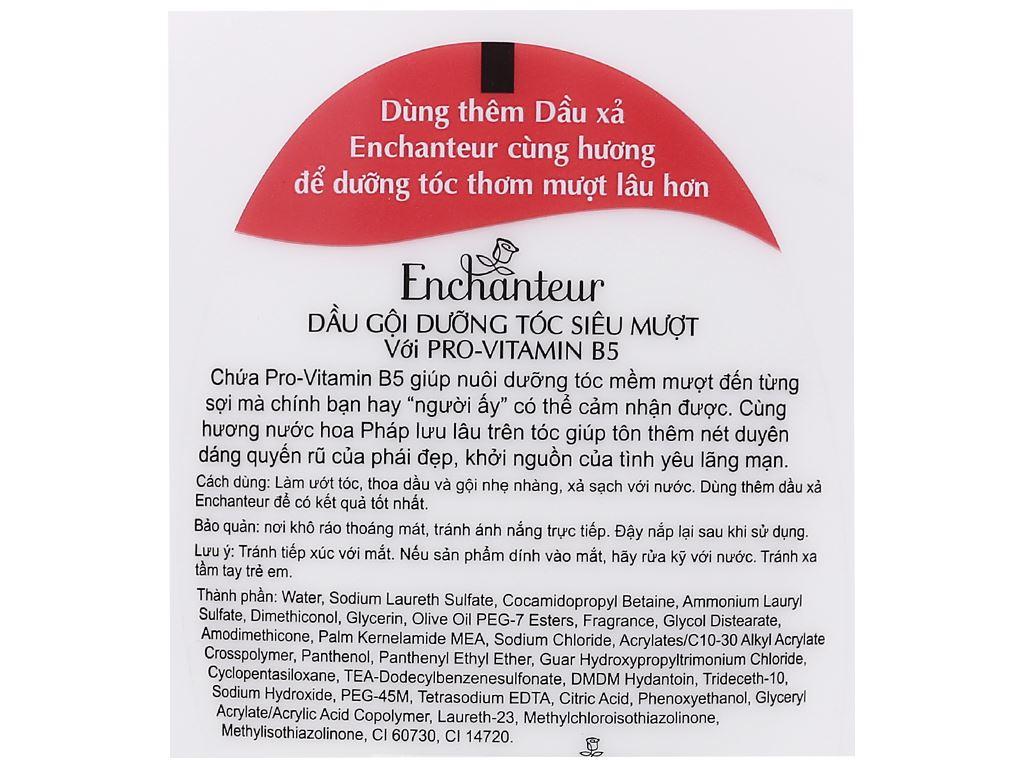 Dầu gội dưỡng tóc siêu mượt Enchanteur Sensation 180g 5