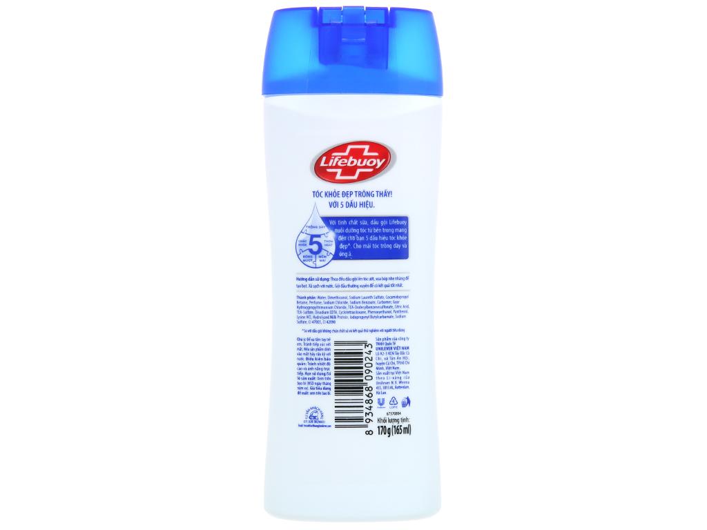 Dầu gội Lifebuoy tóc dày óng ả 165ml 3