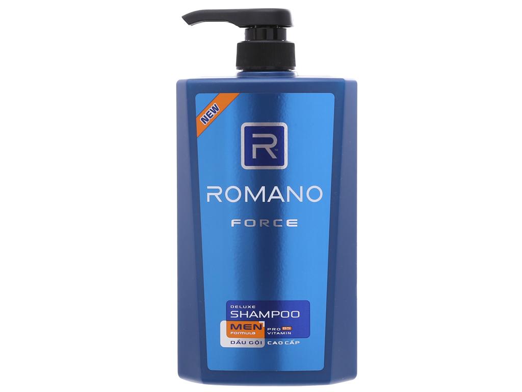 Dầu gội Romano Force nước hoa nam tính 650g 2
