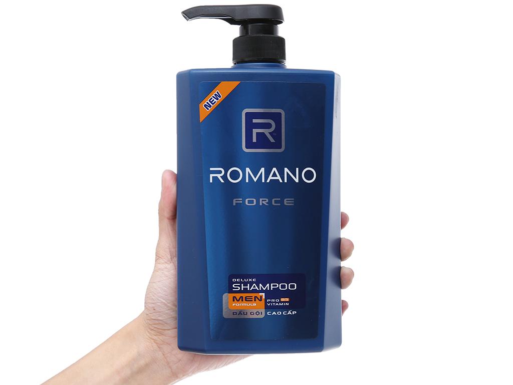 Dầu gội Romano Force nước hoa nam tính 650g 4