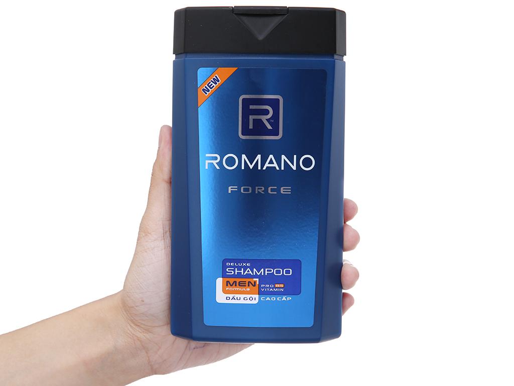 Dầu gội Romano Force hương nước hoa nam tính 380g 4