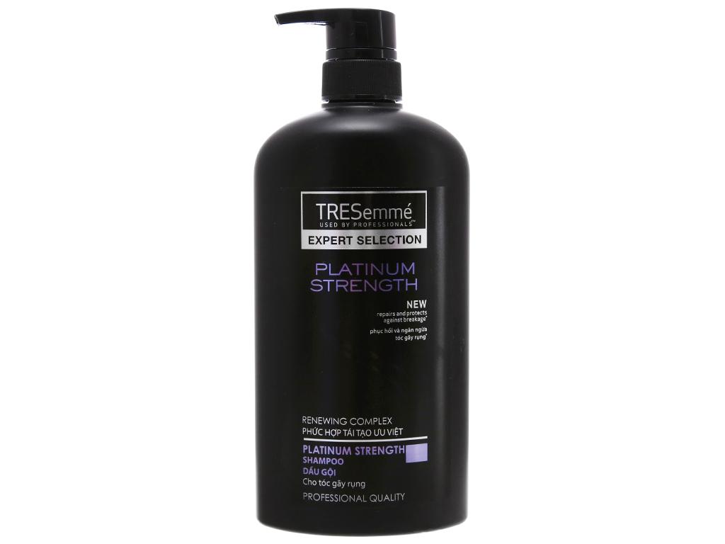 Dầu gội TRESemmé Platinum Strength phục hồi ngăn ngừa tóc gãy rụng 650g 2