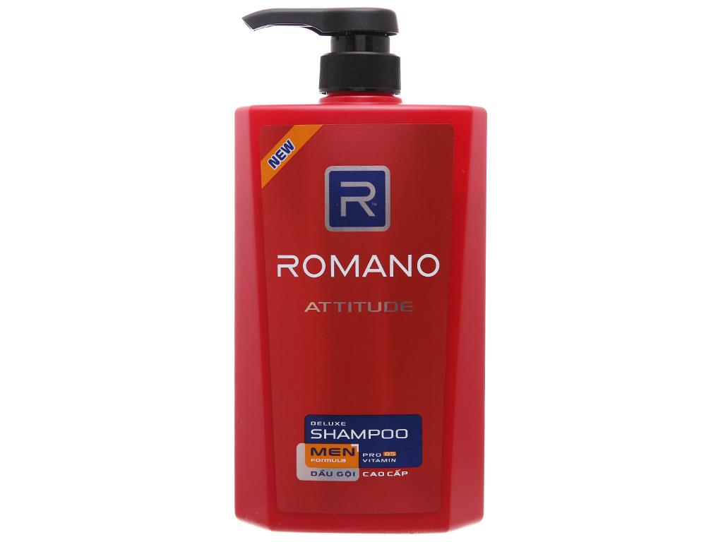 Dầu gội cao cấp Romano Attitude 650g 2
