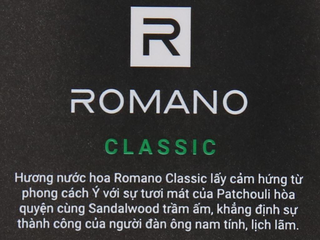Dầu gội hương nước hoa Romano Classic tóc chắc khoẻ 380g 5