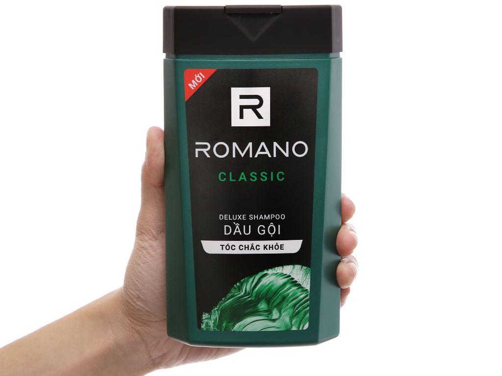 Dầu gội hương nước hoa Romano Classic tóc chắc khoẻ 380g 4