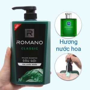 Dầu gội hương nước hoa Romano Classic tóc chắc khoẻ 650g