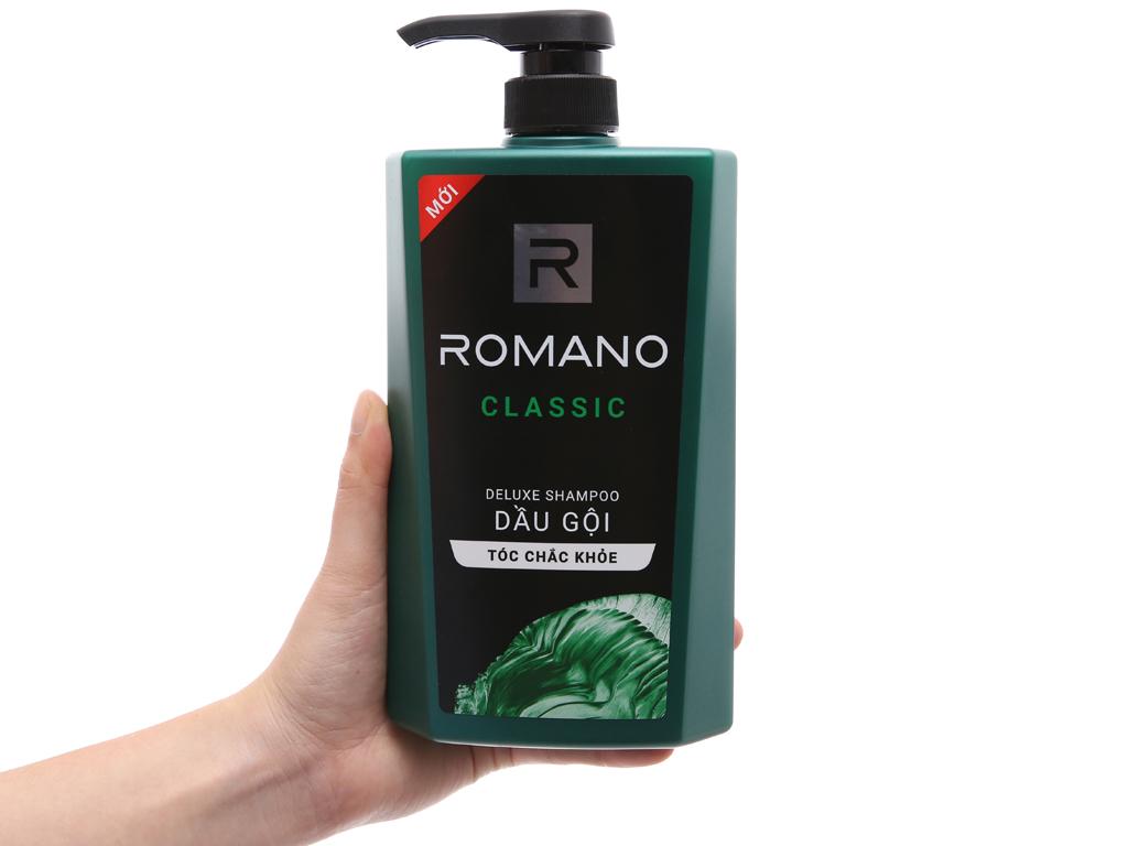 Dầu gội hương nước hoa Romano Classic 650g 4