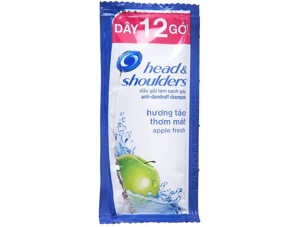 Dầu gội sạch gàu Head & Shoulders hương táo thơm mát 5.7ml x 12 gói 2