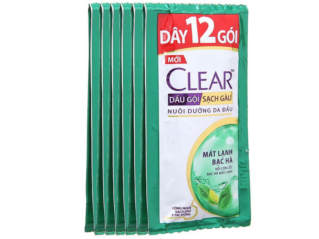 Dầu gội Clear sạch gàu mát lạnh bạc hà 5.8ml x 12 gói 4
