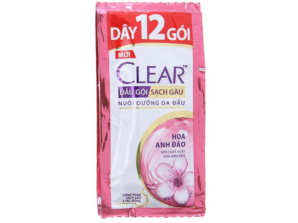 Dầu gội sạch gàu Clear hoa anh đào 5.8ml x 12 gói 2