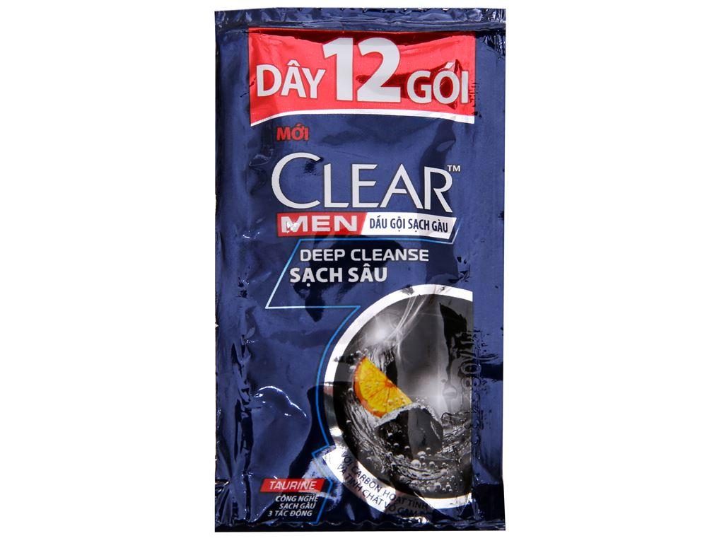 Dầu gội sạch gàu Clear Men Deep Cleanse sạch sâu 4.9ml x 12 gói 3